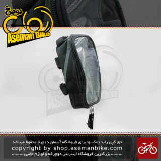 کیف روی فرمان دوچرخه/موتورسیکلت اسمارت مدل ال 0701 نگهدارنده موبایل مشکی Smart Bicycle Handlebar Bag Mobile Holder L0701
