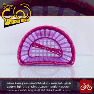 سبد دوچرخه بچه گانه بیبی لاکچری مدل کارتون گرل صورتی Baby Luxury Kids Bicycle Basket Cartoon Girl