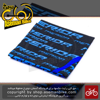 دستمال سر و گردن اسکارف مریدا طرح تایپوگرافی آبی Merida Scarf Typography Blue