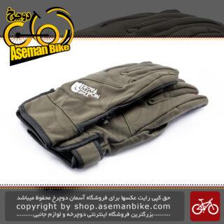 دستکش دوچرخه سواری فوق فیت نورس فیس خردلی The North Face Gloves Craven Color