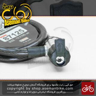 قفل ایمنی دوچرخه/موتورسیکلت ردو مدل اسپیرال 87125 مشکی 12 در 100 سانتی متر REDDO Cable Lock Bicycle\Bike Spiral 87125