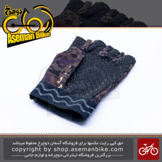 دستکش دوچرخه سواری مدل سولیدر نیم پنجه Bicycle Glove Solider Half
