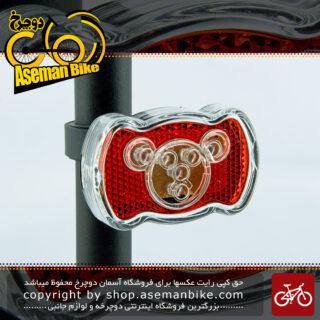 چراغ خظر عقب پلیسی دوچرخه برند فلانگ مدل دامو 4 ال ای دی قرمز 2 ال ای دی آبی Bicycle Safety Light Back DAMO FEILANG Tail Light 4 Red 2 Blue LED
