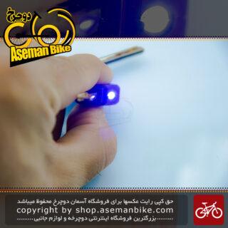 قفل کابلی سیم بکسلی کلیدی دوچرخه برند اوکی مدل 903 تی سایز 12 با طول 1500 میلیمتر آبی Cable Lock Bicycle Brand Ok Size 12x1500 mm Model 903T Blue