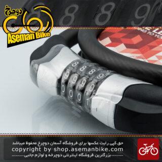 قفل کابلی دوچرخه ایمنی رمزدار اوکی مدل با قطر 15 در 1500 میلیمتر مدل 87614 Cable Lock Ok Model 87614 15x1500 mm Black