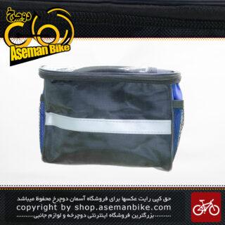 کیف روی بدنه دوچرخه/موتور سیکلت بیاند مدل ادونچر 0309 مشکی آبی Beyond Bicycle Frame Bag Adventure 0309