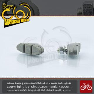 لنت ترمز دوچرخه بچه گانه بریکر مدل سویس تاپ نقره ای Braker Bicycle Brake Pad Kids Swiss-Top