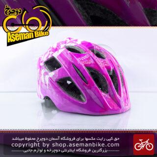 کلاه ایمنی دوچرخه سواری دخترانه قناری مدل کا ال 30 وایکیک صورتی Canary Bicycle Helmet Kids Ka-L30 Waikik