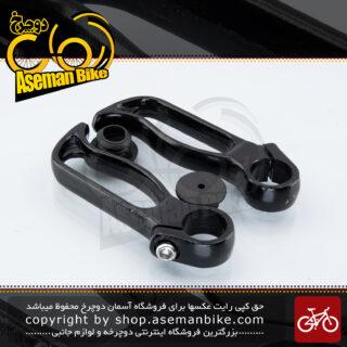 شاخ گاوی ارگونومیک دوچرخه ماین تک آلومینیوم آلن خور مشکی مدل 113 Main Tech Bicycle End-bar 113 Aluminum
