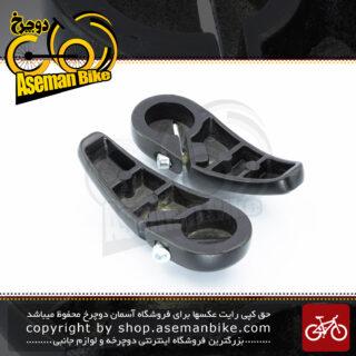 شاخ گاوی کوتاه دوچرخه فلش آلومینیوم مدل پرو مشکی Flash Bicycle End-bar Aluminum PRO Small Black