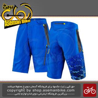 شلوارک ورزشی/دوچرخه سواری جاینت مالزی مدل رلم آبی تم هگزاگون شش ضلعی سایز لارج Giant Baggy Short Realm Trail Short