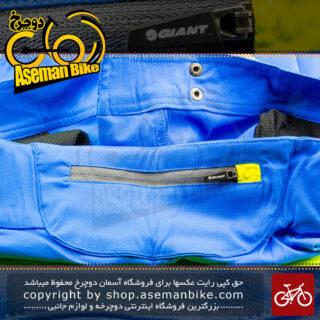 شلوارک ورزشی/دوچرخه سواری جاینت مدل رلم آبی تم هگزاگون شش ضلعی Giant Baggy Short Realm Trail Short