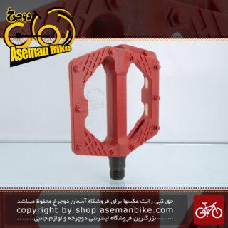 پدال دوچرخه جاینت مدل جی سون پلاستیک میخ دار قرمز Giant Platform Plastic Pedal for Bicycle G-7