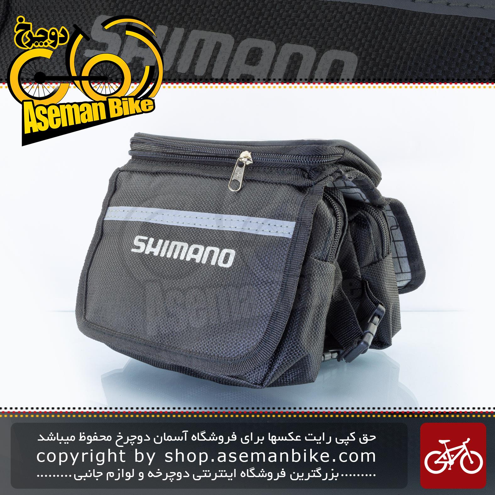 کیف روی تنه دوچرخه مرکوری مدل شیمانو لوگو مشکی هولدر موبایل Mercury Bicycle Frame Bag Shimano Logo Black