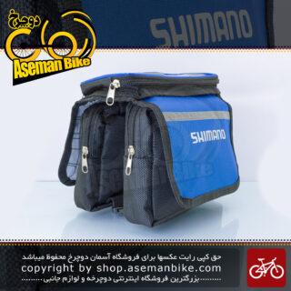 کیف روی تنه دوچرخه مرکوری مدل شیمانو لوگو آبی هولدر موبایل Mercury Bicycle Frame Bag Shimano Logo Blue