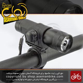 چراغ جلو دوچرخه اوکی یک وات آلیاژ آلومینیوم ضد آب مدل اکس-سی 107 مشکی OK Bicycle Head Light 1-Watt XC-107 Water-Proof