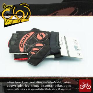 دستکش دوچرخه سواری رالی گروپ طرح جاینت مدل لژی قرمز/سفید 3010 Rally Group Bicycle Gloves Giant Logo Legea red/white