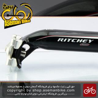 لوله زین دوچرخه ریچی آلومینیوم مدل پرو قطر 31.6 در 350 میلیمتر مشکی نقره ای Ritchey Bicycle Seat-post Pro