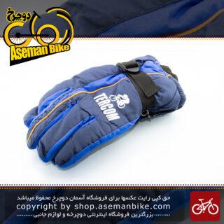 دستکش زمستانه دوچرخه/موتور سواری ترکام مدل تی جی 70 ضخیم با الیاف حفظ گرما آبی TERCOM Bike\Bicycle Winter Glove TG-70