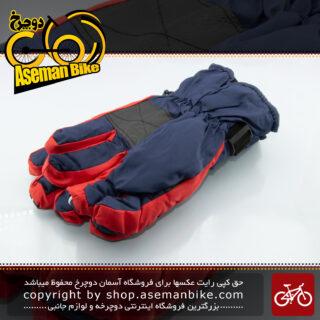 دستکش زمستانه دوچرخه/موتور سواری ترکام مدل تی جی 73 ضخیم با الیاف حفظ گرما قرمز/آبی TERCOM Bike\Bicycle Winter Glove TG-73