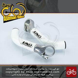 شاخ گاوی دوچرخه اونو آلومینیوم مدل کالوی پرفورمنس سفید UNO Bicycle End-bar Kalloy Performance