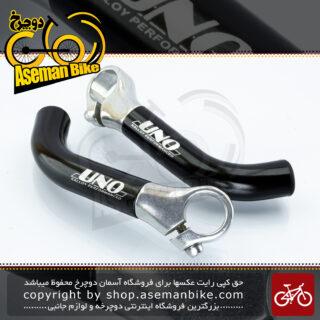 شاخ گاوی دوچرخه اونو آلومینیوم مدل کالوی پرفورمنس مشکی UNO Bicycle End-bar Kalloy Performance