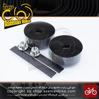 نوار فرمان دوچرخه جاده کورسی ولو مدل راپ ساخت تایوان مشکی VELO On-road Handlebar Tape Wrap Taiwan Black