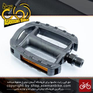 پدال دوچرخه وی پی پلاستیکی مدل وی پی 898 مشکی ساخت تایوان VP Bicycle Pedal vp-898 Taiwan Black