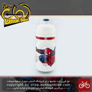 قمقمه آسان نصب بدون نیاز به پیچ برند یونی استار مدل اسپایدر من ساخت ایران Bottle Kids Bicycle Direct Mount UNISTAR Made In IRAN Model Spiderman