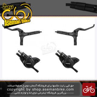 مجموعه ست جلو و عقب ترمز دیسک هیدرولیک روغنی دوچرخه شیمانو مدل ام تی 201 ام تی 200 Shimano BL-M201 BR-M200 Hydraulic Bicycle Disc Brake