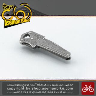 ابزار کاربردی کمپینگ چاقو کلیدی تاشو ضامن دار اس او جی مدل 1311 نقره ای SOG Multi Mini Tool Knife Key 1311 Silver