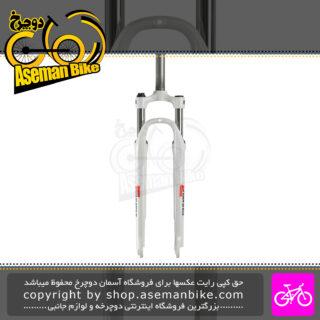 دوشاخ کمک فنر دار دوچرخه کوهستان سایز 27.5 اس آر سانتور مدل ام 3030 سفید SR Suntour MTB Bicycle Suspension Fork M3030 White