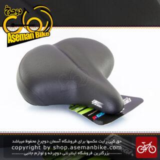 زین دوچرخه انرژی پهن طبی بالشتک دار سیستم فنر عنکبوتی مدل انزو 013 مشکی Energi Ergonomic Bicycle Saddle Enzo 013 Black
