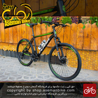 دوچرخه کوهستان شهری برند فلش مدل اولترا دی17 2020 سایز 26 رنگ مشکی و سبز Bicycle Flash ultra d17 size 26 2020 color black & green