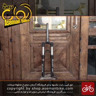 دوشاخ دوچرخه کوهستان نعلی معکوس بدون جوش مانیتو مدل اسلیت سایز 26 مشکی Manitou MTB Bicycle Fork Slate 26 Black