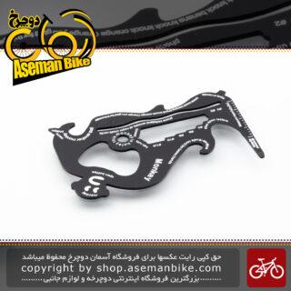 ابزار کاربردی انواع آچار دوچرخه و کمپینگ مانکی مولتی مینی تول مشکی آلومینیوم Monkey Multi Mini Tool Camping Cycling Black Aluminum