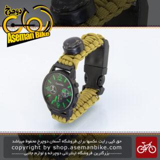 ساعت کاربردی ابزاری کمپینگ نورس وی مدل اچ واچ کماندو 011 North Way Tools Watch Camping H-Watch Commando 011 Green