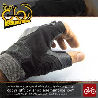 دستکش نیم پنجه ورزشی دوچرخه سواری کمپینگ اوکلی مدل او 2 مشکی OAKLEY Safe Cycling Camping Glove O2 Black