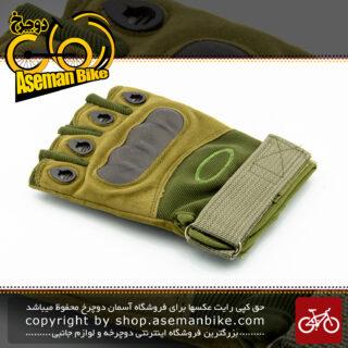 دستکش نیم پنجه ورزشی دوچرخه سواری کمپینگ اوکلی مدل او فایو ارتشی OAKLEY Safe Cycling Camping Glove O5 Commando