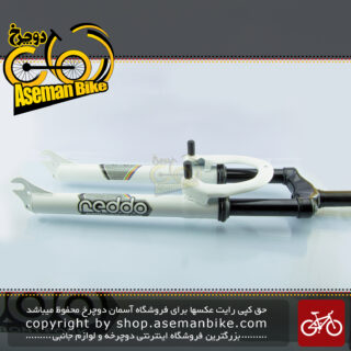 دوشاخ دوچرخه کوهستان کمک فنر دار ردو مدل آر 1 سایز 26 سفید Reddo Bicycle Suspension Fork R1 26 White
