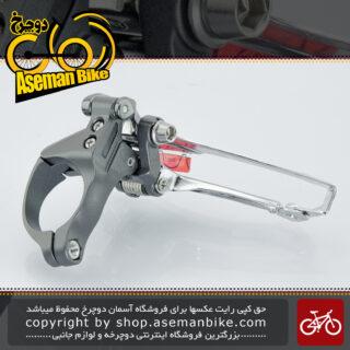 طبق عوض کن دوچرخه کورسی جاده شیمانو ژاپن 10 سرعته مدل اف دی-سی ایکس 70 Shimano Japan Front Derailleur On-road Bicycle FD-CX70 Silver