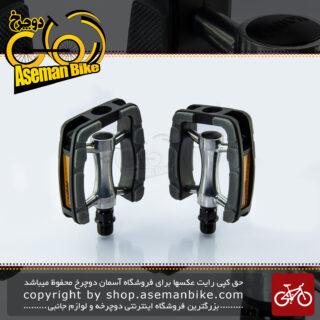 پدال رکاب دوچرخه یونیون مدل اس پی 823 خاکستری-نقره ای UNION Pedal Bicycle SP-823 Gray-Silver