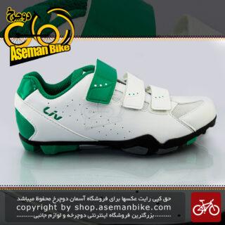 کفش دوچرخه سواری قفل شو کوهستان جاینت مدل فرا سفید-سبز Giant Bicycle FERA MTB Shoes White-Green