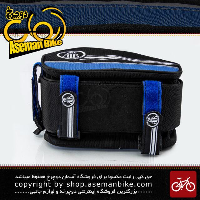 کیف روی تنه دوچرخه بی تی بی دارای جیب جانبی مدل گرینی آبی BTB Bicycle Saddle Bag Greny Blue