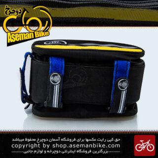 کیف روی تنه دوچرخه بی تی بی دارای جیب جانبی مدل گرینی زرد BTB Bicycle Saddle Bag Greny Yellow