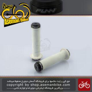 گریپ دوچرخه فان مدل GR08C1 دو قفله سفید FUNN Dual Lock Grip GR08C1 White