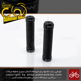 گریپ دوچرخه فان مدل GR10C2 دو قفله مشکی FUNN Dual Lock Grip GR10C2 Black