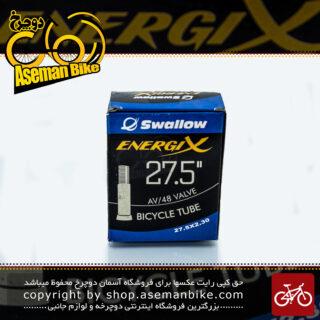 تیوب دوچرخه برند اسوالو سایز 27.5 والف موتوری ساخت اندونزی Bicycle Tube Swallow Size 27.5x2.30