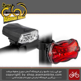 مجموعه ست چراغ جلو دوچرخه سواری شکاری اوکی برند ایکس سی مدل 988 902 Bicycle Head Light XC-988 902 Super Bright LED