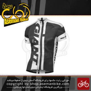 لباس دوچرخه سواری تی شرت زیپ دار جاینت مدل جی تی – اس مشکی سفید لارج / ایکس لارج Bicycle Giant GT-S Short Sleeve Jersey XL